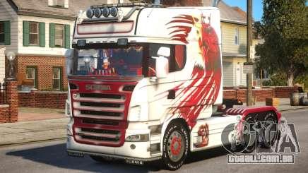 Scania R580 Longline Custom PJ15 para GTA 4