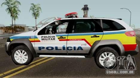 Fiat Palio Weekend Locker PMMG para GTA San Andreas esquerda vista