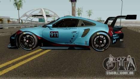 Porsche 911 RSR 2018 para GTA San Andreas esquerda vista