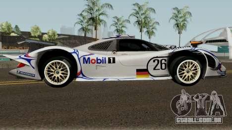 Porsche 911 GT1 1998 para GTA San Andreas vista traseira