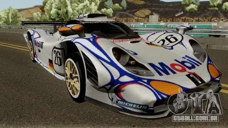 Porsche 911 GT1 1998 para GTA San Andreas vista interior