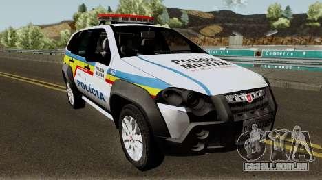 Fiat Palio Weekend Locker PMMG para GTA San Andreas vista interior