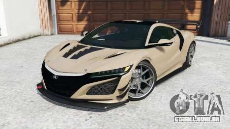 GTA 5 Acura NSX 2017 [replace] vista lateral direita