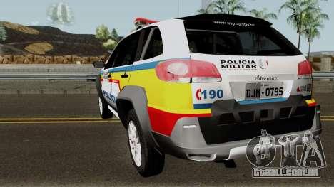 Fiat Palio Weekend Locker PMMG para GTA San Andreas traseira esquerda vista