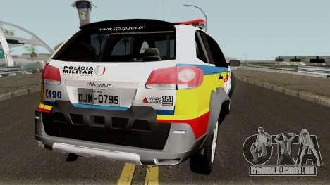 Fiat Palio Weekend Locker PMMG para GTA San Andreas vista direita