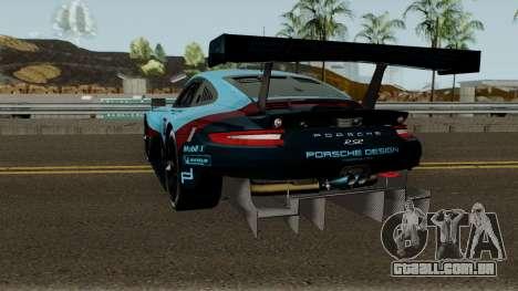 Porsche 911 RSR 2018 para GTA San Andreas traseira esquerda vista