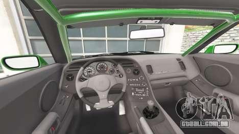 GTA 5 Toyota Supra Turbo (JZA80) [add-on] traseira direita vista lateral