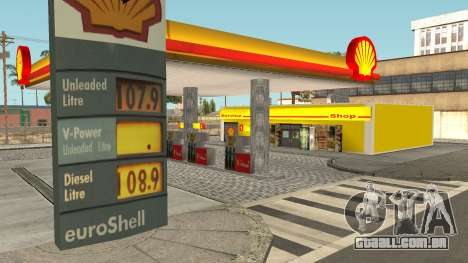 Shell Gas Station Updated para GTA San Andreas segunda tela