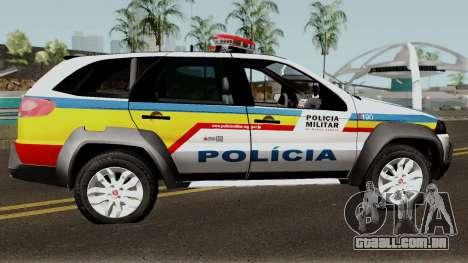 Fiat Palio Weekend Locker PMMG para GTA San Andreas vista traseira