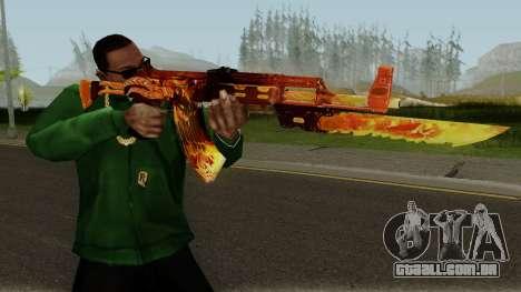 Rules Of Survival AK47 para GTA San Andreas terceira tela