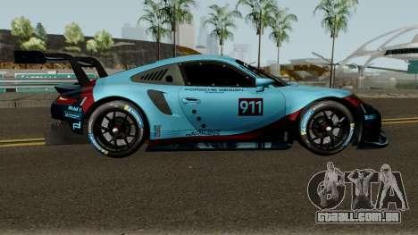 Porsche 911 RSR 2018 para GTA San Andreas vista traseira