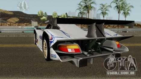 Porsche 911 GT1 1998 para GTA San Andreas traseira esquerda vista