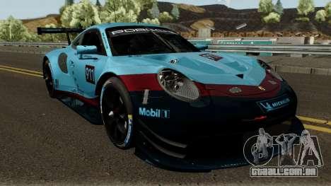 Porsche 911 RSR 2018 para GTA San Andreas vista interior