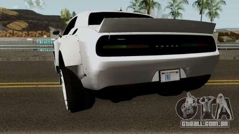 Dodge Challenger SRT Hellcat Rocket Bunny 2015 para GTA San Andreas