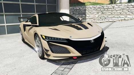 Acura NSX 2017 [replace] para GTA 5