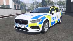 Volvo V60 T6 2018 Swedish Police [ELS] [replace] para GTA 5