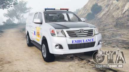Toyota Hilux Double Cab 2012 Thai Ambulance para GTA 5
