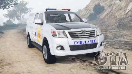 Toyota Hilux Double Cab 2012 Thai Ambulance para GTA 5