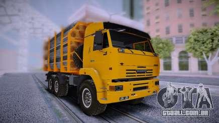 KAMAZ 6460 Caminhão com tubos para GTA San Andreas