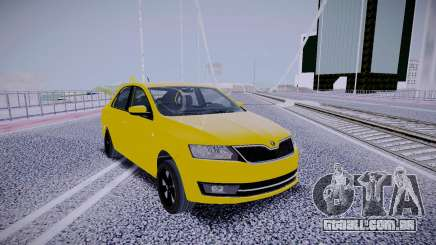 Skoda Rapid Yellow para GTA San Andreas