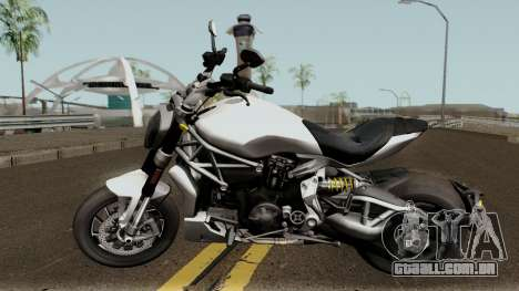 Ducati X Diavel S 2018 para GTA San Andreas esquerda vista