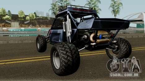 Predator X-18 Intimidator para GTA San Andreas traseira esquerda vista