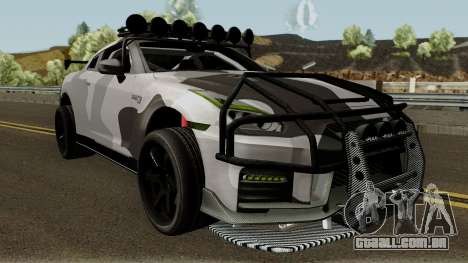 Nissan GT-R Tuning & OffRoad para GTA San Andreas vista interior