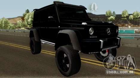 Mercedes-Benz G550 4X4 para GTA San Andreas vista interior