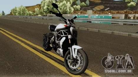 Ducati X Diavel S 2018 para GTA San Andreas vista interior