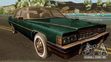 Cadillac Fleetwood Beaten 1985 v1 para GTA San Andreas vista interior