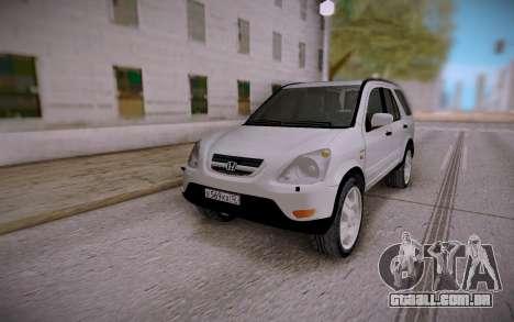Honda CR-V para GTA San Andreas vista traseira