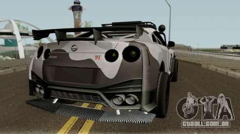 Nissan GT-R Tuning & OffRoad para GTA San Andreas vista direita