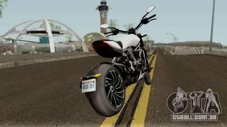 Ducati X Diavel S 2018 para GTA San Andreas vista direita