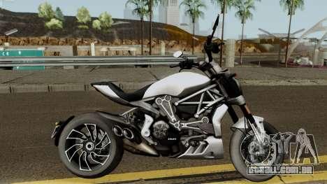Ducati X Diavel S 2018 para GTA San Andreas vista traseira