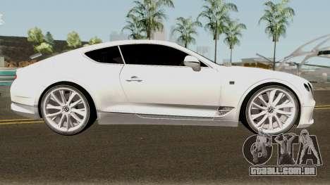Bentley Continental GT First Edition 2018 para GTA San Andreas vista traseira