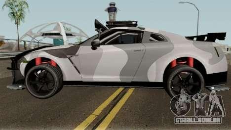 Nissan GT-R Tuning & OffRoad para GTA San Andreas esquerda vista