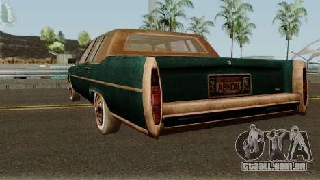 Cadillac Fleetwood Beaten 1985 v1 para GTA San Andreas traseira esquerda vista