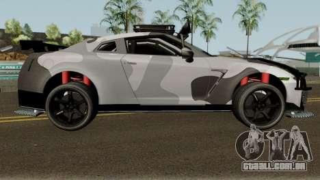 Nissan GT-R Tuning & OffRoad para GTA San Andreas vista traseira