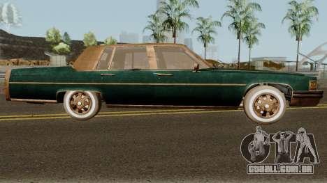 Cadillac Fleetwood Beaten 1985 v1 para GTA San Andreas vista traseira