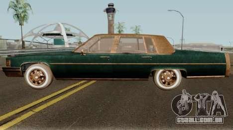 Cadillac Fleetwood Beaten 1985 v1 para GTA San Andreas esquerda vista
