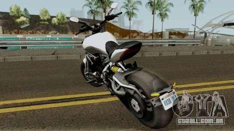 Ducati X Diavel S 2018 para GTA San Andreas traseira esquerda vista