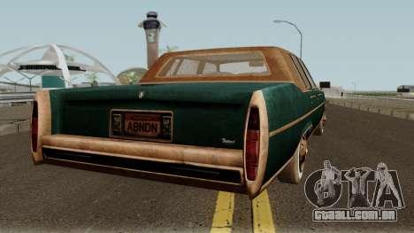 Cadillac Fleetwood Beaten 1985 v1 para GTA San Andreas vista direita