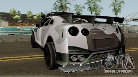 Nissan GT-R Tuning & OffRoad para GTA San Andreas traseira esquerda vista