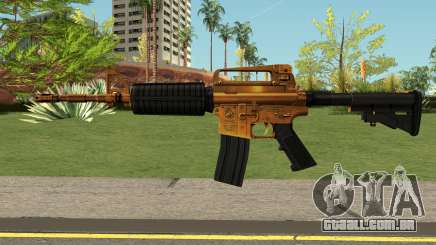 Golden M4A1 HQ para GTA San Andreas