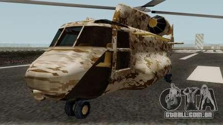 Retexture Cargobob para GTA San Andreas