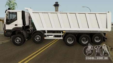 Iveco Trakker Dumper 10x4 para GTA San Andreas esquerda vista