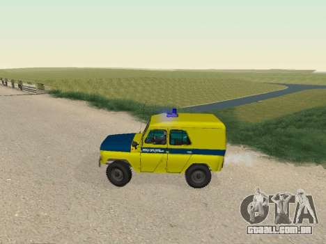 UAZ 469 Polícia para GTA San Andreas esquerda vista