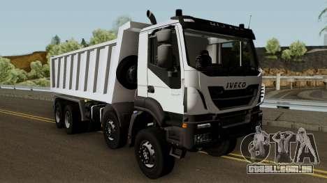 Iveco Trakker Dumper 10x4 para GTA San Andreas vista interior