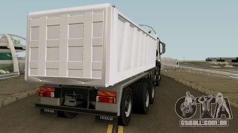 Iveco Trakker Dumper 10x4 para GTA San Andreas vista direita
