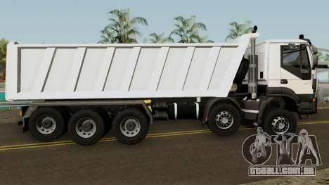 Iveco Trakker Dumper 10x4 para GTA San Andreas vista traseira
